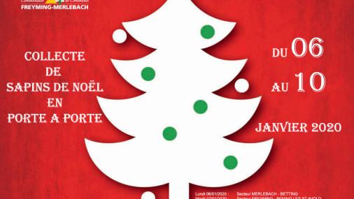 collecte de sapins lundi 6 janvier